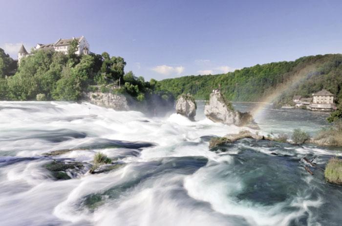 Wasserfall nahe des Hotel HOERI am Bodensee