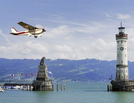Rundflug über den Bodensee Hotel HOERI