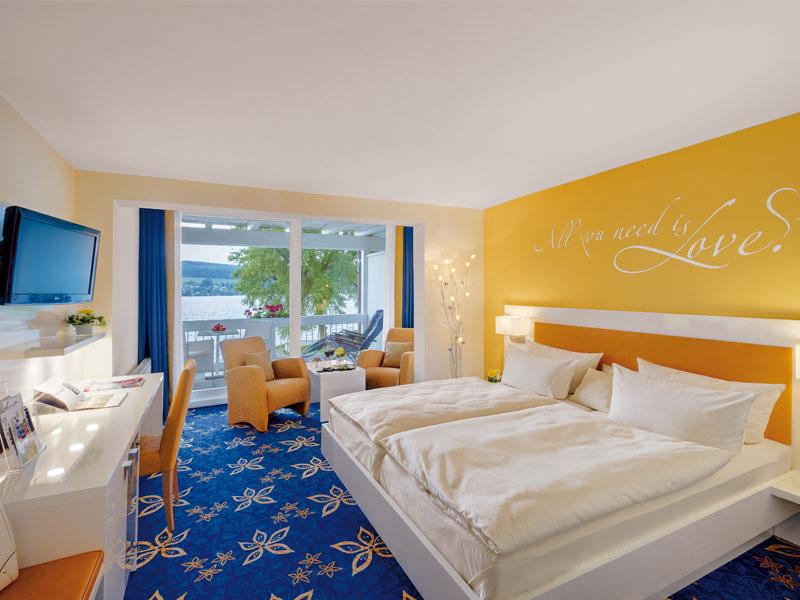 Doppelzimmer innen Hotel HOERI am Bodensee