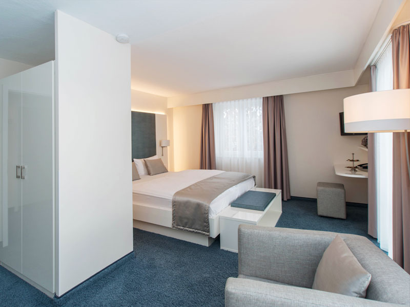 Modernes Zimmer im Hotel HOERI am Bodensee