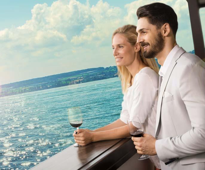 Paar auf dem Bodensee Hotel HOERI