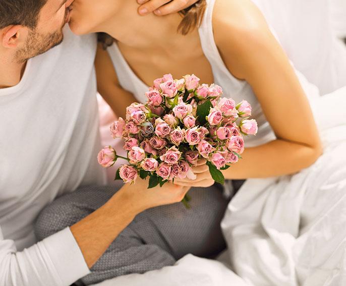 Romantisches Paar im Hotel HOERI am Bodensee