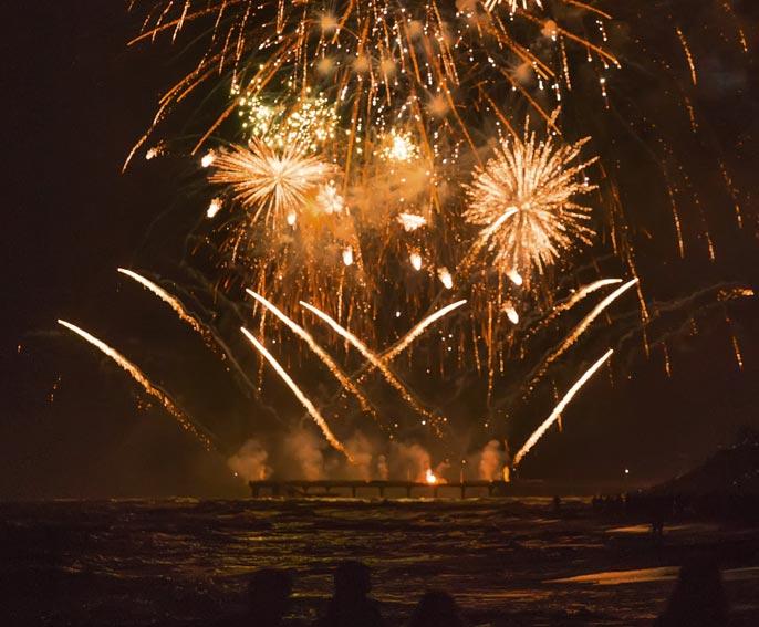 Feuerwerk am Bodensee Hotel HOERI