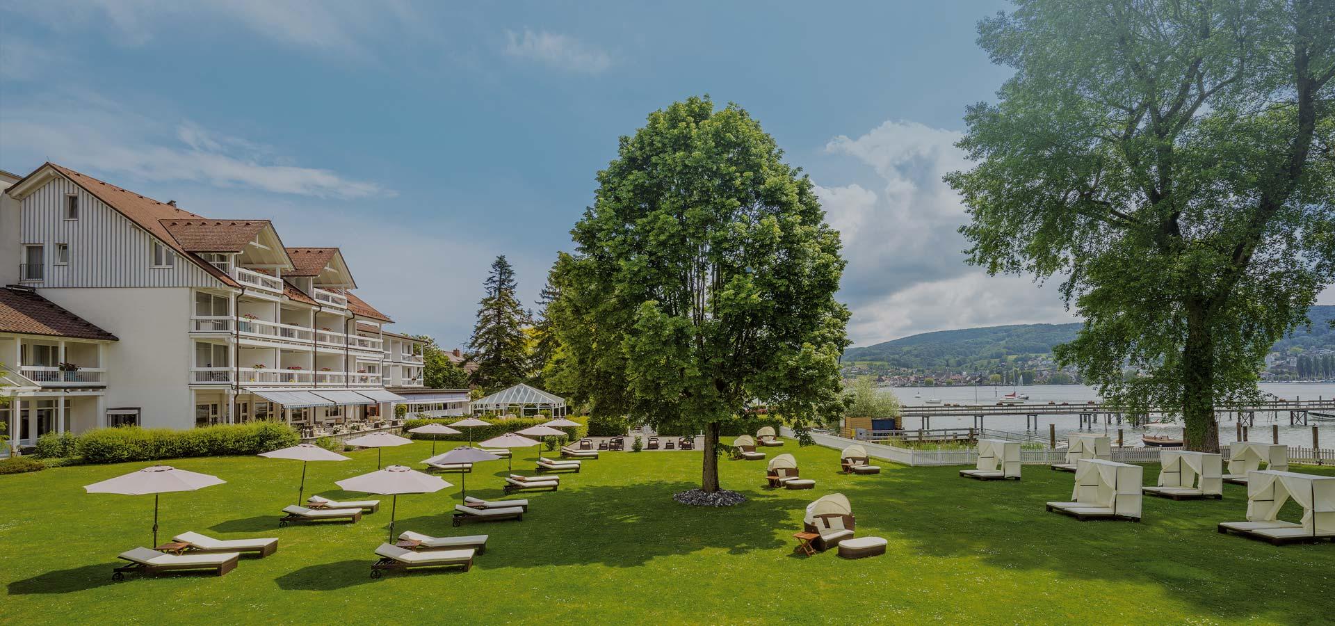 Gartenblick des Hotel HOERI am Bodensee