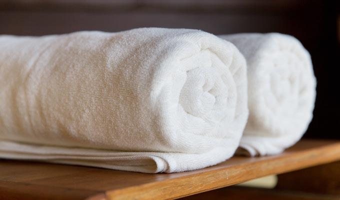 Handtücher des Hotel HOERI am Bodensee