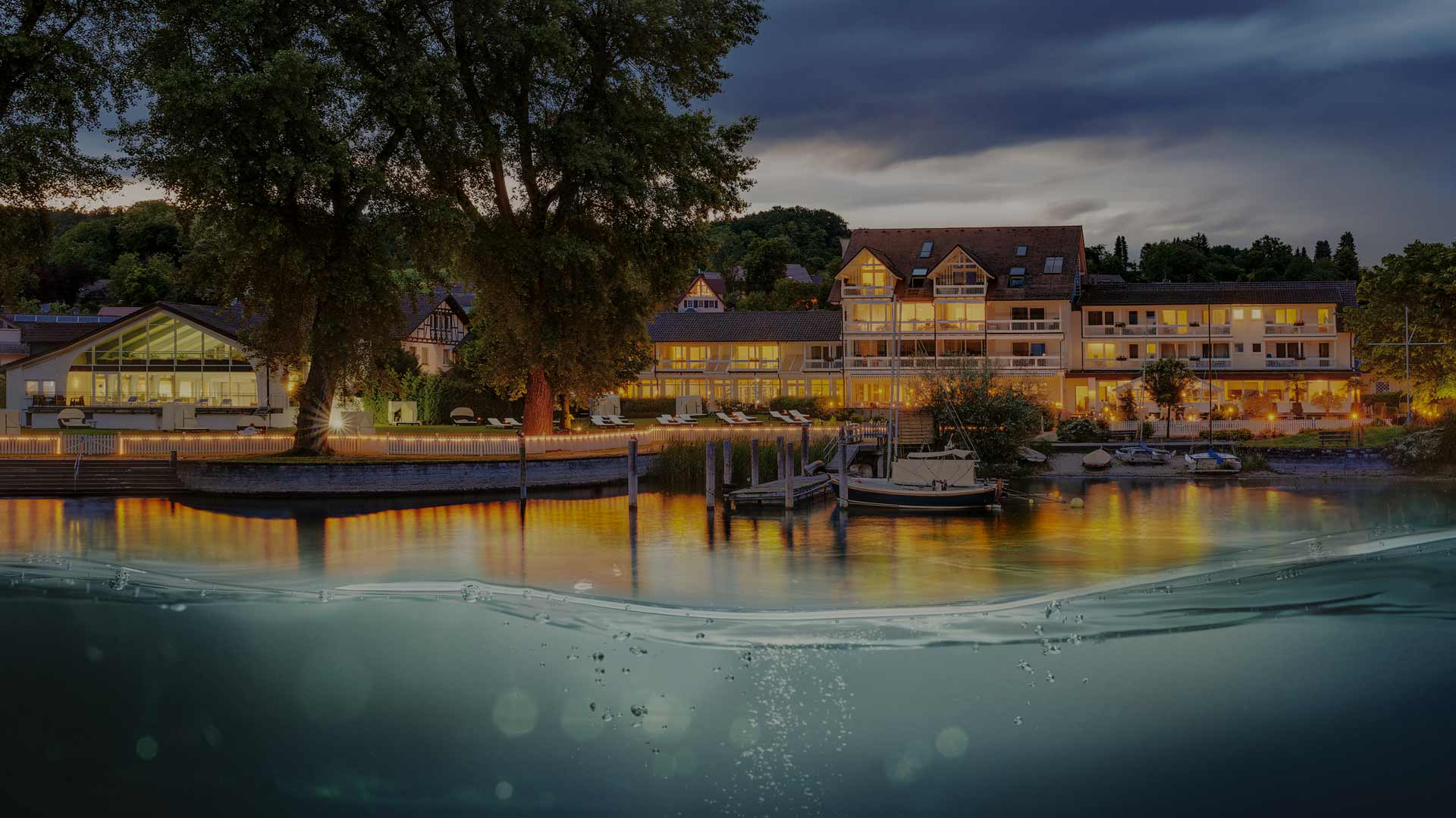 Blick vom See am Abend | Hotel HOERI am Bodensee