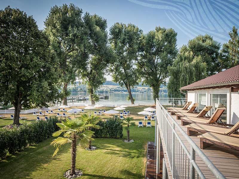 Traumausblick des Hotel HOERI am Bodensee