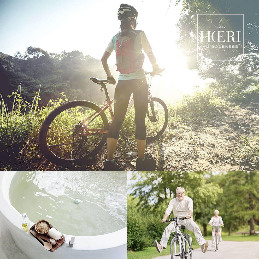 Urlaub mit Radtouren um den Bodensee   Hotel HOERI